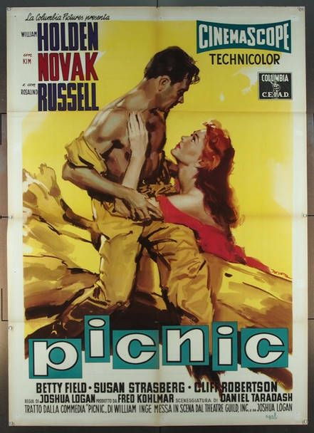 PICNIC (1955) 25768 Columbia Pictures Original Italian 39x55  Folded.   Fine Plus Condition   WILLIAM HOLDEN   KIM NOVAK