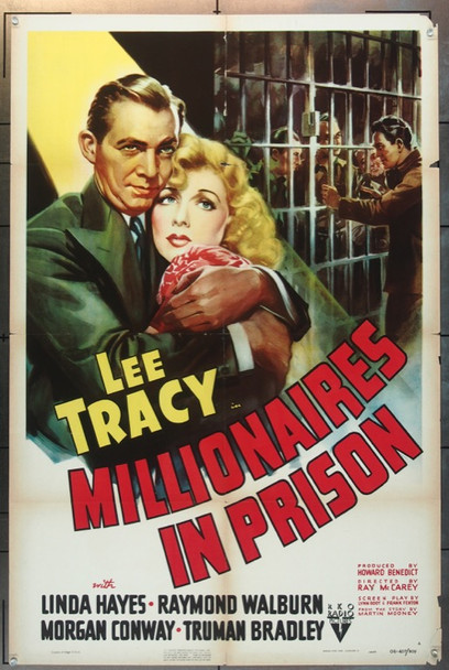 MILLIONAIRES IN PRISON (1940) 25774 Original RKO Style A One Sheet Poster (27x41).  Folded.  Very Good Condition.