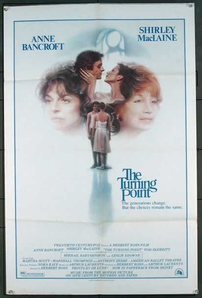 TURNING POINT, THE (1977) 4927 Original 20th Century-Fox One Sheet Poster (27x41).  Folded.  Very Fine.