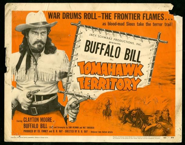 BUFFALO BILL IN TOMAHAWK TERRITORY (1952) 19231 Original United Artists Title Lobby Card  (11x14)  Fair Condition