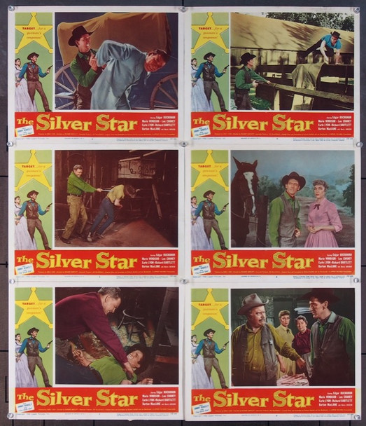 SILVER STAR, THE (1955) 10506 Lippert Pictures Group of Six Scene Lobby Cards (11x14) Very Good to Fine Plus Condition
