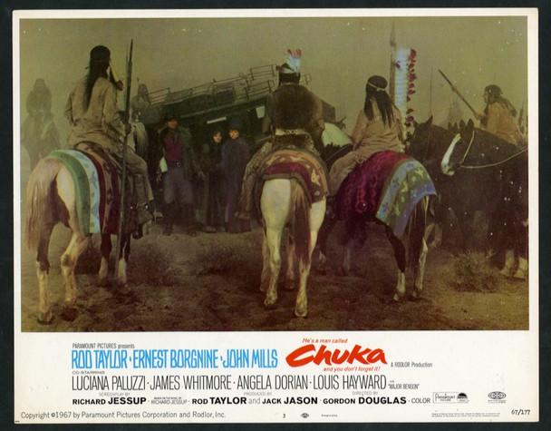 CHUKA (1967) 25646 Paramount Pictures Original Scene Lobby Card (11x14).   Very Fine Condition.