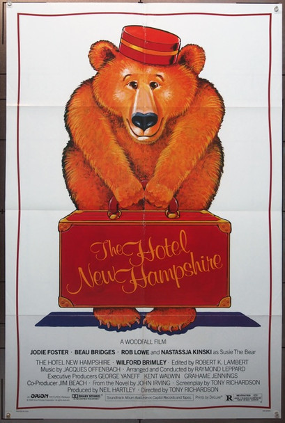 HOTEL NEW HAMPSHIRE, THE (1984) 3291 Original Orion Pictures One-Sheet Poster (27x41) Folded  Very Fine Condition