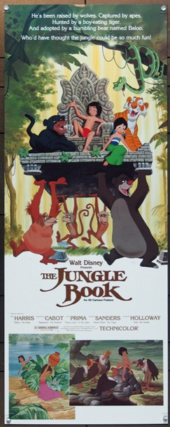 JUNGLE BOOK, THE (1967) 12234 Original Walt Disney Productions 1982 Re-Release Insert Poster (14x36).  Rolled.  Very Fine Plus Condition.