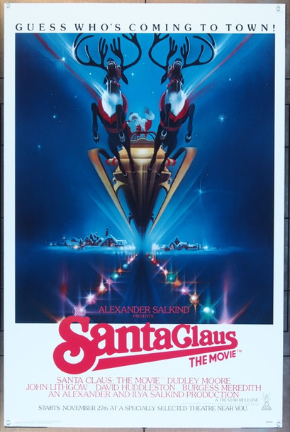 SANTA CLAUS:  THE MOVIE (1985) 437 Tri-Star Original One Sheet Poster (27x41)  Rolled  Very Fine