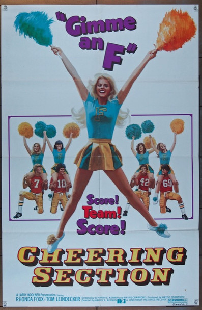 CHEERING SECTION (1977) 19187 Original Dimension Pictures One Sheet Poster (27x41).  Folded.  Fine Condition.