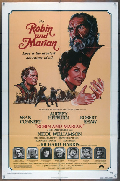 ROBIN AND MARIAN (1976) 19261 Columbia Pictures One Sheet Poster (27x41) Folded  Fine Plus Condition
