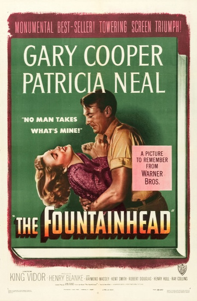 FOUNTAINHEAD, THE (1949) 22509 Warner Brothers Original U.S. One Sheet Poster  27x41  Unbacked.  Very Fine Condition
