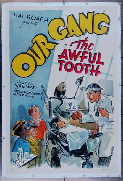 AWFUL TOOTH, THE (1938) 25819 MGM Original One Sheet Poster  27x41 Linen-backed  Very Fine Plus Condition