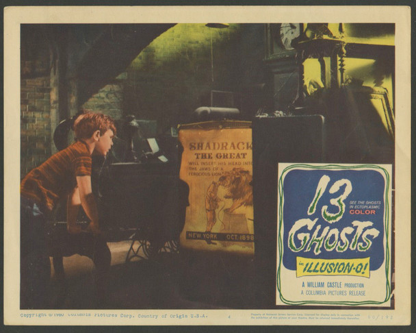 13 GHOSTS (1960) 25807 Columbia Pictures Original Scene Lobby Card  11x14  Very Good Condition