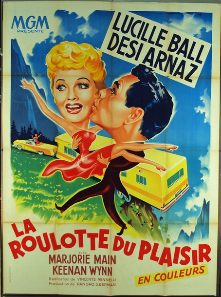LONG, LONG TRAILER, THE (1954) 7171 MGM Original French Grande (47x63) Folded.  Very Fine Condition.