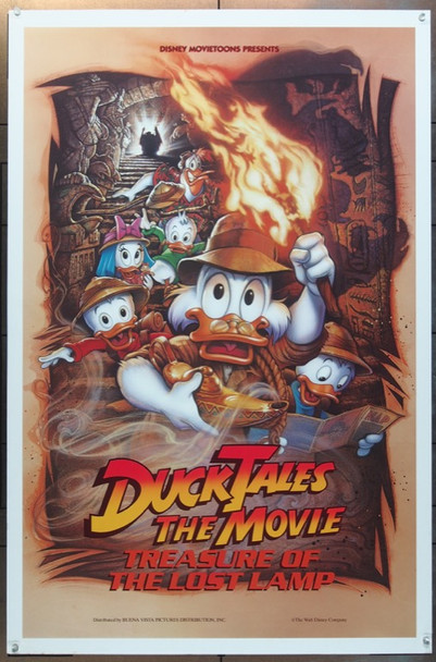 DUCK TALES:THE MOVIE-TREASURE OF THE LOST LAMP (1990) 3838 Walt Disney Studios Original One Sheet Poster (27x41) Rolled  Very Fine