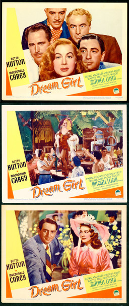 DREAM GIRL (1948) 9822 Paramount Pictures Original Lobby Cards (3)  11x14  Very Fine Condition
