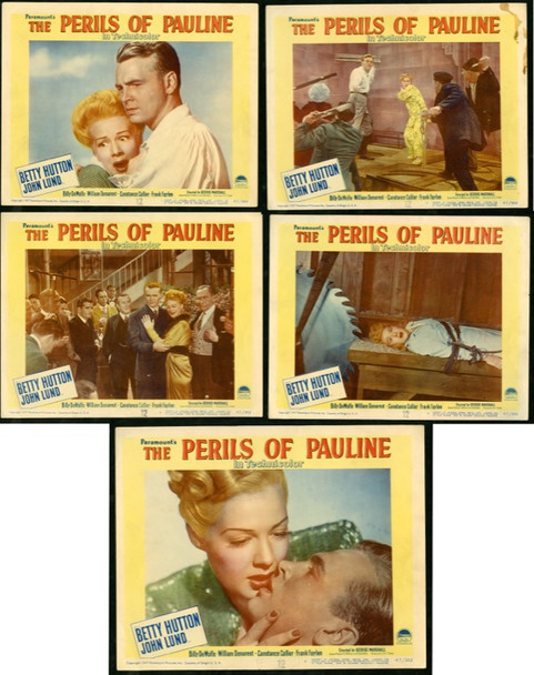 PERILS OF PAULINE, THE (1947) 9828 Paramount Pictures Original Scene Lobby Cards (11x14) 5 Cards  Various Conditions  Good to Very Fine