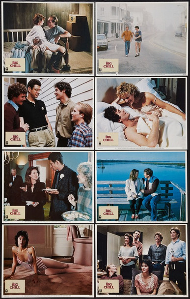 BIG CHILL, THE (1983) 1178 Columbia Pictures Original Set of 8 Lobby Card (11x14).  Very Fine Plus Condition.