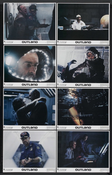 OUTLAND (1981) 1452 Warner Brothers Pictures Original Set of Eight Lobby Cards  (11x14)  Very Fine to Near Mint