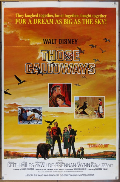 THOSE CALLOWAYS  (1965) 25823 Walt Disney Company Original One Sheet Poster  27x41  Fine Plus  Folded