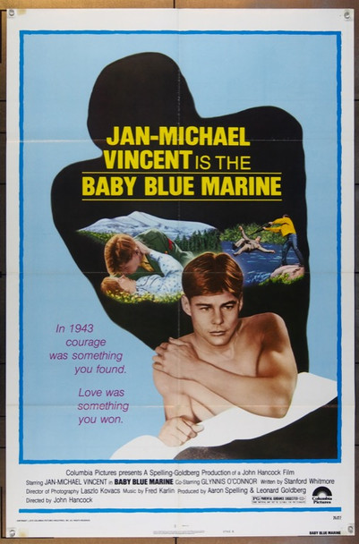 BABY BLUE MARINE (1976) 7745 Columbia Pictures One Sheet Poster  (27x41)  Folded.