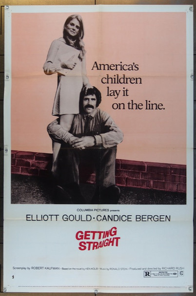 GETTING STRAIGHT (1970) 4036 Original Columbia Pictures One Sheet Poster (27x41).  Folded.  Fine Condition.