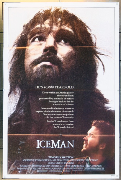 ICEMAN (1984) 1904 Original Universal Pictures One Sheet Poster (27x41).  Folded.  Very Fine Condition.