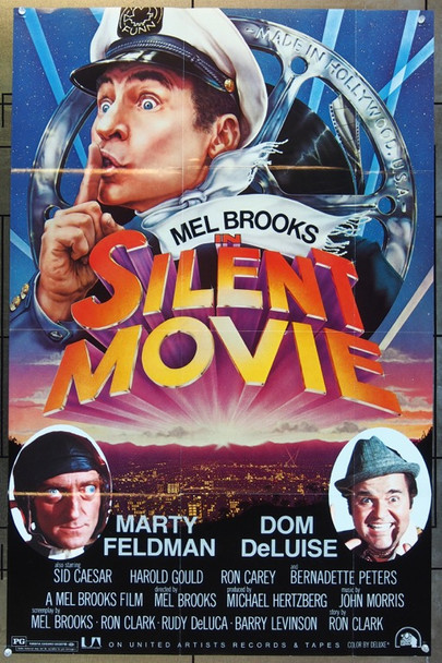 SILENT MOVIE (1976) 1901 Original United Artists Soundtrack Record Poster (37x24).  Folded.  Very Fine Condition.