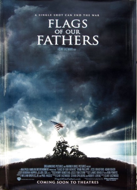 FLAGS OF OUR FATHERS (2006) 20659 Original Paramount Pictures One Sheet Poster (27x40).  Rolled.  Double-sided.  Very Fine Plus.