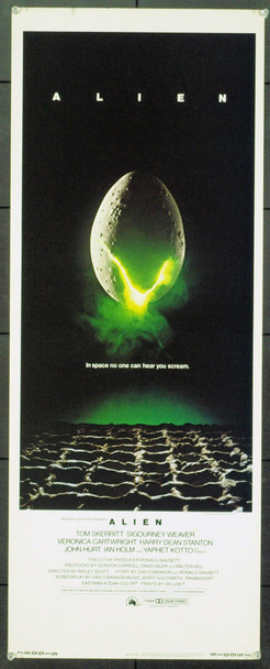 ALIEN (1979) 1009 Original 20th Century-Fox Insert Poster (14x36).  Rolled.  Very Fine Condition.