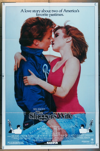 SLUGGER'S WIFE, THE (1985) 3192 Columbia Pictures One Sheet Poster   27x41  Folded  Very Fine Plus