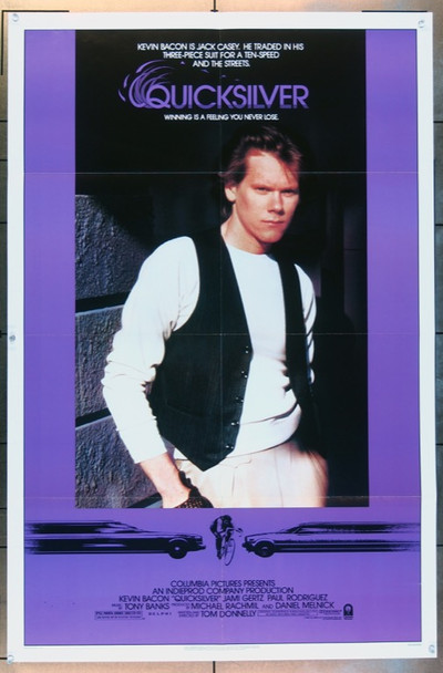 QUICKSILVER (1986) 3190 Columbia Pictures Original One Sheet Poster   27x41  Folded    Very Fine Condition