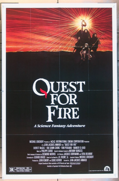 QUEST FOR FIRE (1982) 3191 Original 20th Century Fox One Sheet Poster   27x41  Folded  Fine Plus Condition