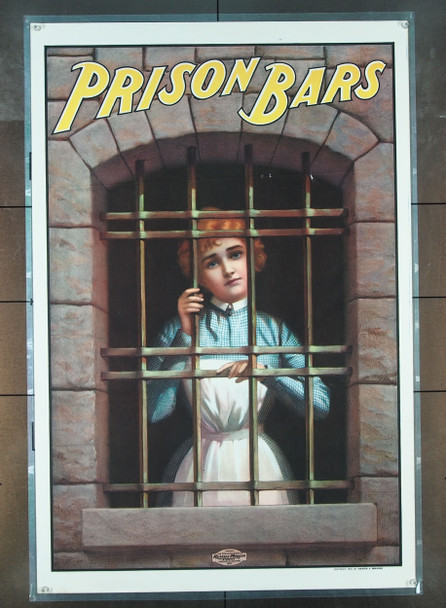 PRISON BARS (1901) 25773 Walter Barnsdale One Sheet Poster  Never Folded  Near Mint Condition  RARE