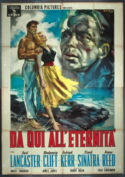FROM HERE TO ETERNITY (1953) 25480   Original Italian 79x55 Poster   Folded  Theater-Used  Fine Condition  Art by Symeoni