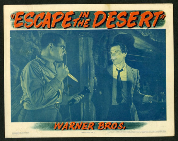 ESCAPE IN THE DESERT (1945) 8862 Warner Brothers Pictures Original Scene Lobby Card  11x14 Very Good Plus Condition