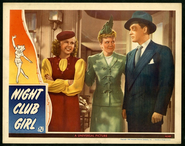 NIGHT CLUB GIRL (1945) 8859 Universal Pictures Original Lobby Card  11x14  Fine Plus Condition