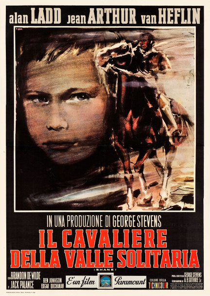 SHANE (1953) 26050 Paramount Pictures Original Italian 79x55  Linen Backed  Very Fine