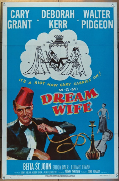 DREAM WIFE (1953) 26075 MGM Original One Sheet Poster  (27x41)  Folded  Fine Plus to Very Fine Condition