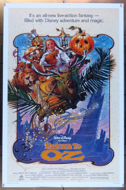 RETURN TO OZ (1985) 307 Original Buena Vista One Sheet Poster  27x41  Rolled  Art By Drew Struzan