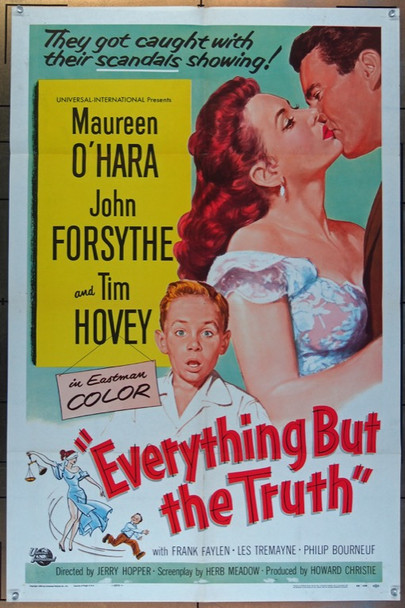 EVERYTHING BUT THE TRUTH (1956) 26077 Universal Pictures Original One Sheet Poster  27x41  Folded  Fine Plus to Very Fine