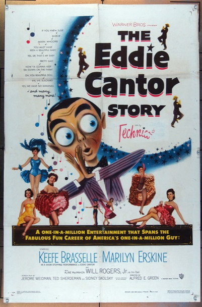 EDDIE CANTOR STORY, THE (1953) 26076 Warner Brothers Original One-Sheet Poster  27x41  Folded  Very Good Plus to Fine Condition