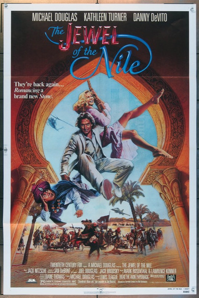 THE JEWEL OF THE NILE (1985) 2667 20th Century Fox Original One Sheet Poster  27x41  Folded  Very Fine Plus