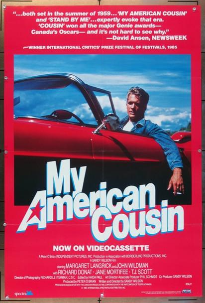 MY AMERICAN COUSIN (1985) 3039 SPECTRAFILM Video Release Poster (27x41) Video Release Poster  (1985)
