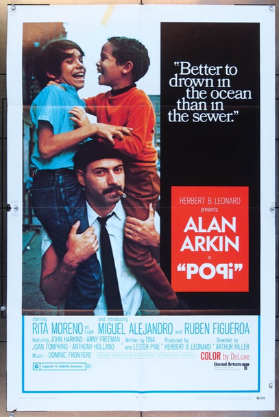 POPI (1969) 26125 United Artists Original One Sheet Poster  (27x41)  Folded  Very Fine Condition