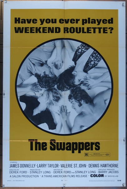 SWAPPERS, THE (1970) 3037 Trans America Original One Sheet Poster  27x41  Folded  Very Fine Condition