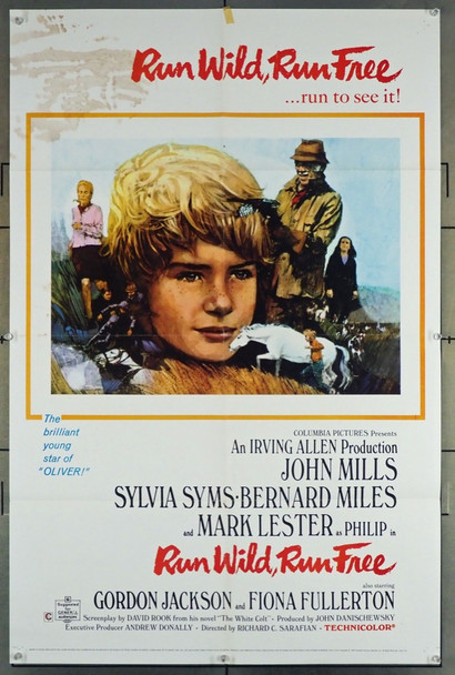 RUN WILD, RUN FREE (1969) 26129 Columbia Pictures Original One Sheet Poster  27x41  Folded  Fair Condition