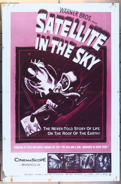 SATELLITE IN THE SKY (1956) 26130 Original Warner Brothers One Sheet Poster  27x41  Folded  Very Good Condition