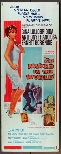 GO NAKED IN THE WORLD (1961) 17030 MGM Insert Poster    14 x 36  Very Fine Condition