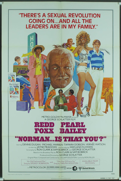 NORMAN...IS THAT YOU? (1976) 3774 Original MGM One Sheet Poster (27x41). Folded. Very Fine Condition.