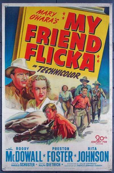 MY FRIEND FLICKA (1943) 9577 20th Century Fox Original One-Sheet Poster  27x41  Linen backed  Very Good Plus Condition
