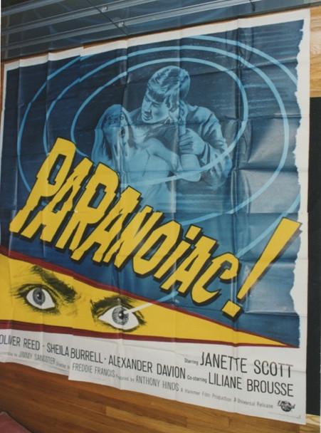PARANOIAC (1963) 9132 Original Universal International Six Sheet Poster  81x81 Folded.  Very Fine Condition