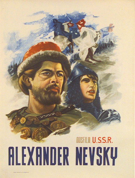 ALEXANDER NEVSKY (1938) 6148 Original Sovexportfilm 30x40 Poster.  Possbily Re-issue.   LInen-Backed.  Very Fine Condition.